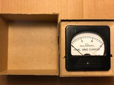 Vintage Triplett DC Milliamperes Meter Final Grid Current 0-15 mA in box