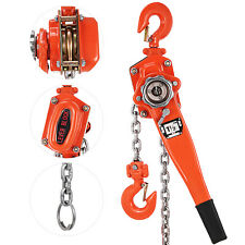 Chain Lever Block Hoist Come Along 2-Hook Ratchet Lift 1.5 Ton 3000lb CA Stock