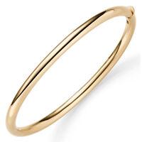 Armreif Armband Armschmuck aus 585 Gold Gelbgold 4mm breit glänzend oval 60x49mm