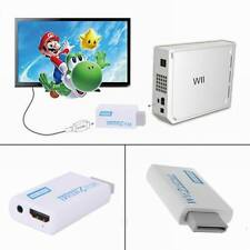 New Wii To HDMI 720P 1080P White Upscaling Converter Adapter Cable Audio Output
