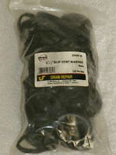 """New Bag of 100 Danco 1 1-2"""" Slip Joint Rubber Washers / Black / # 36484W"""