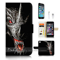 ( For iPhone 7 ) Wallet Case Cover P3253 Dragon