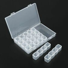 28 Slot PP Nail Arts Storage with Lid Simple Beads Box Makeup Organizer Useful