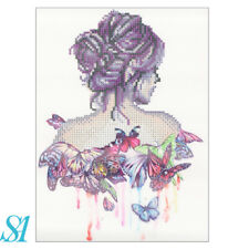 5D Diamond DIY Butterfly & Girl Full Drill Painting  Craft Paint By Number Kits