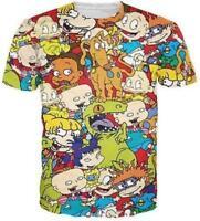 New Fashion Womens/Mens Funny  Cartoon Rugrats 3D Print Casual T-Shirt YT114