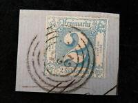 Altdeutschland Thurn und Taxis ab 1862-Ziffern im Quadrat.Briefstück 2 Sgr.signa