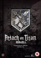 Attack On Titan . The Complete Season 1 . Episodes 1-25 . Anime . 4 DVD . NEU
