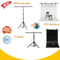 Multi-size Adjustable T-shape Background PVC Backdrop Support Stand Tripod Kit