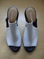 Ladies Shoes Calvin Klein Peggy black & white peep toe mules UK 3.5 EU 36, 3411