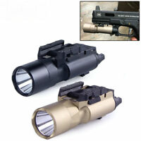 Tactical X300U 500LM Super Bright LED Flashlight Torch Light Fit Rifle 20mm Rail