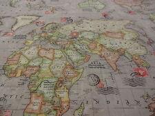 MAPS ++ BEIGE++ by CHATHAM GLYNN  FABRICS