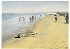 Kunstkarte: Kroyer - Sommertag am Südstrand von Skagen