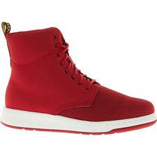 DR MARTENS Women's RIGAL MH Nubuck & Fabric Boots, Dark Red, UK 5 / EU 38