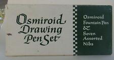 Osmiroid Pen Set Fountain Pen & 5 Assorted Nibs In Box