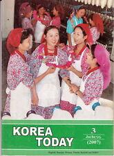 Rare Propaganda magazine North KOREA TODAY March 2007 issue DPRK corea coree