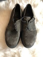 Mens Olive Green Oxfords Dress Shoes Barneys New York Size 10