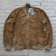 New Levis Made & Crafted Italian Leather Bomber Jacket Size 2