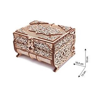 Wood Trick - Wood Model Building Treasurebox Casket Swarovski Crystal 192 Pieces