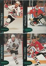 1992/93 Chicago Blackhawks Parkhurst Emerald Ice Parallel Team Set Of 21 Cards