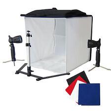 DynaSun PB5XL 60cm Cube Lumière Softbox Tente Trépied  2x Lampes 4x Fond
