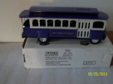 "ERTL TROLLEY CAR BANK ""NEW YORK UNIVERSITY"" 1993. 1/43 SCALE. New in box."