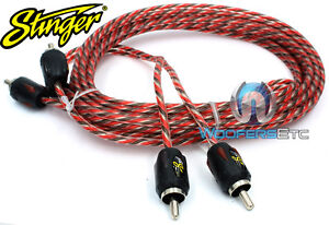 STINGER SI426 TWISTED 6 FT 2-CHANNEL 4000 RCA JACK INTERCONNECT CABLE WIRE NEW