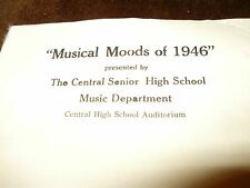 """Muncie Central HS - Indiana - """"Musical Moods"""" - Date 1946"""