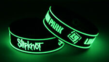 Slipknot Linkin Park S7L7 New! 2x Bracelet Wristband Glow in the Dark
