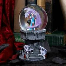 Anne Stokes Dragon Mage Snowglobe Shaker nemesis now/new stock