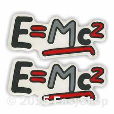 "Printed 3 Colours ""E=MC2"" Red Car Vinyl Stickers Bumper Window Laptop Wall Art"