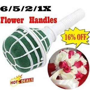 1-6 Pcs Bridal For Wedding Bride Bouquet Holder Decor Foam Fast Floral B4K2
