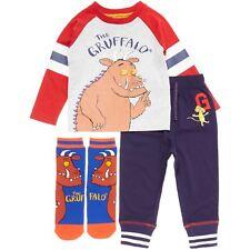 Kids Boys Unisex Toddler TU Ex-Store Gruffalo Cartoon PJ Set Top Bottom & Socks