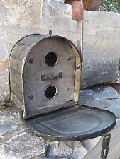 Functional Industrial Galvanized Metal Mailbox Style Birdhouse Bird House