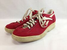 VTG Reebok Classic Sneakers Shoes Mens 12 Red Canvas Low Top Lace Up