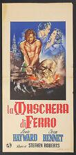 LOCANDINA, LA MASCHERA DI FERRO The Man in the Iron Mask DUMAS, CUSHING, POSTER