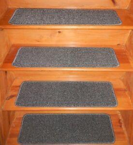 "13  Step  9'' x 30'' + 1 Landing 28"" x 30"" Woven Nylon Carpet Stair Treads"