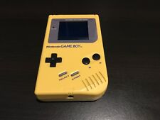 Nintendo Gameboy DMG Yellow Console with Backlight,New Glass Screen & Bivert Mod