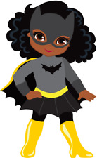 African American Bat Woman Superhero Stickers for planners and scrapbooking