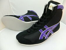 Authentic asics Boxing Shoes Short type Black × Purple from Japan Bto F/S New