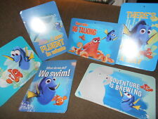Lot of 6 Disney/Pixar Finding Nemo Cardboard Wall Pictures w Movie Quotes