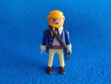 Playmobil Hombre pantalon beige camiseta azul pistolera Man holster blond