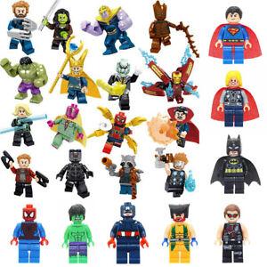 8-16 Teile Marvel Avengers Super Hero Mini Figuren Batman Hulk Fit Lego Spielzeu