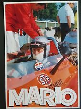 1960s MARIO ANDRETTI RARE STP AUTO RACING POSTER FORMULA 1 INDIANAPOLIS 500 RACE