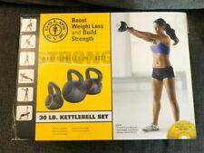 Golds Gym 30lb Kettle Bell Set Includes 3 Kettlebells 5, 10, 15lb Ships ASAP