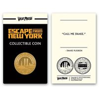 John Carpenter's Escape From New York Gold Collector Coin Only 125 Exist New!