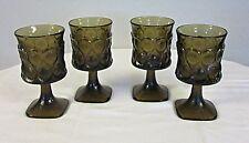 Spotlight Walnut Brown water goblets by Noritake 1970's - 1980's 8 oz