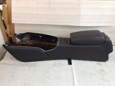 13 2014 2015 AUDI A6 S6 A7 S7 RS7 CENTER CONSOLE BLACK LEATHER WOOD TRIM OEM #93