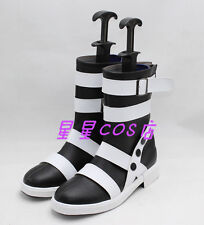 Soul Eater Maka Albarn Black With Rivet Halloween Cosplay Shoes Boots X002