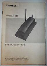 Bedienungsanleitug Buch für Simens megaset 940