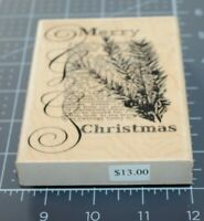 New 2010 Penny Black CHRISTMAS TEXT 4115k Rubber Stamp Christmas Holiday